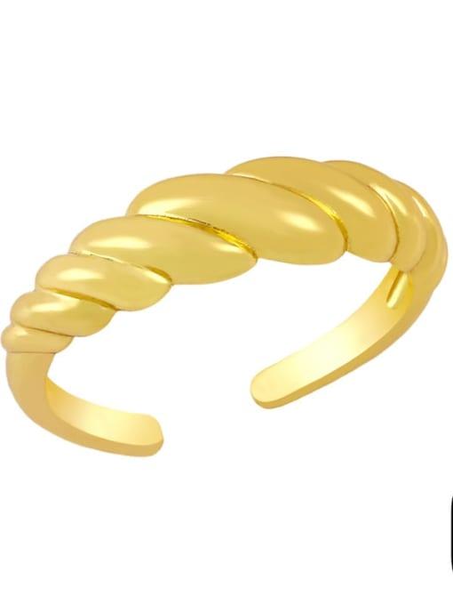CC Brass Cubic Zirconia Key Minimalist Band Ring 1