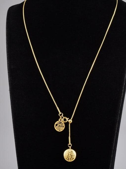 A TEEM Titanium Steel Heart Hip Hop Lariat Necklace
