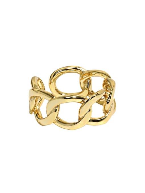 18K Gold 925 Sterling Silver Geometric Minimalist Band Ring
