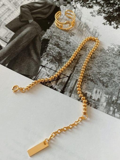 Boomer Cat 925 Sterling Silver Round Bead  Vintage Beaded Bracelet