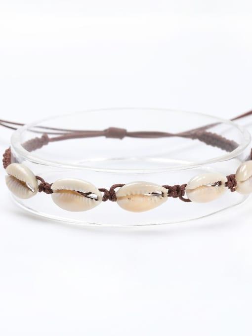 Roxi Stainless steel Shell Irregular Bohemia Adjustable Bracelet 2