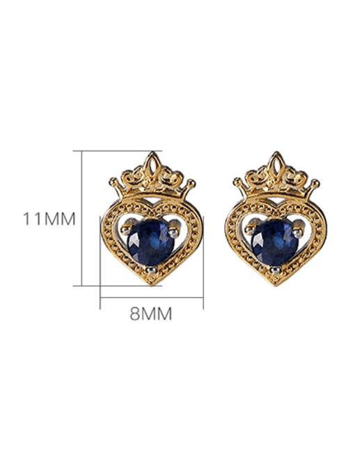 DEER 925 Sterling Silver Cubic Zirconia Irregular Vintage Stud Earring 3