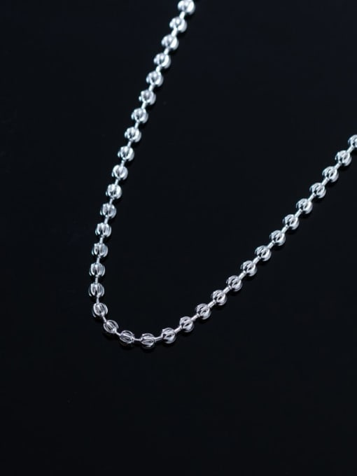 Rosh 925 Sterling Silver Round Minimalist Beaded Necklace 3