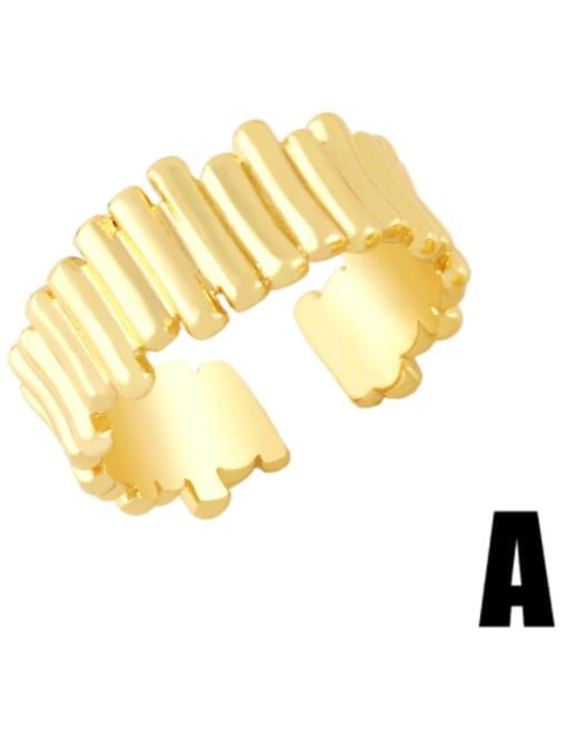 A Brass Irregular Hip Hop Band Ring