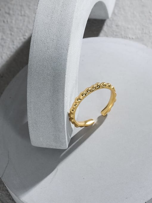 DAKA 925 Sterling Silver Irregular Minimalist Band Ring 1