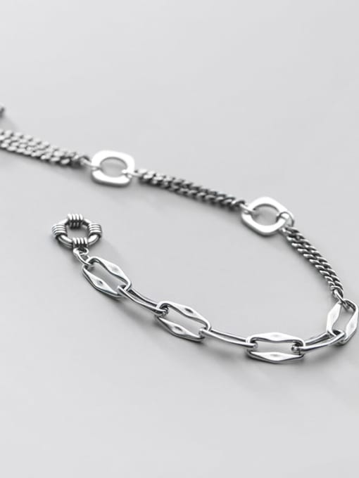 Rosh 925 Sterling Silver Ot buckle asymmetry Vintage Strand Bracelet Made in China 2