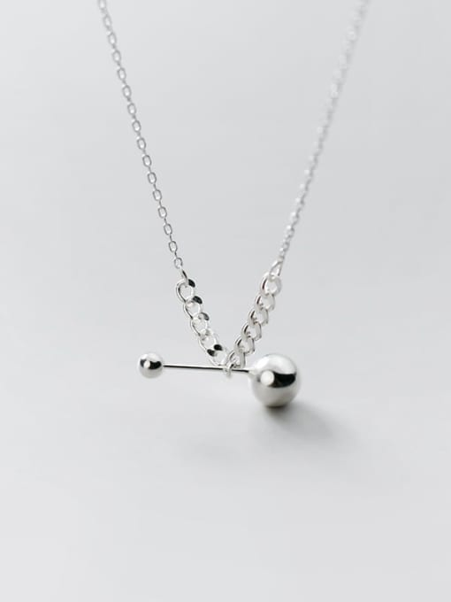 Rosh 925 Sterling Silver Ball Minimalist Necklace 3