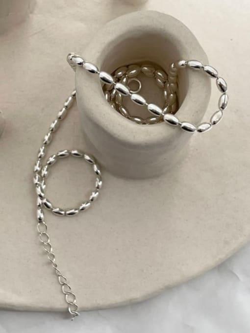 Boomer Cat 925 Sterling Silver Bead Irregular Vintage Necklace 1
