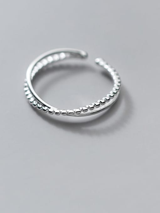 Rosh 925 Sterling Silver Irregular Minimalist Band Ring 2