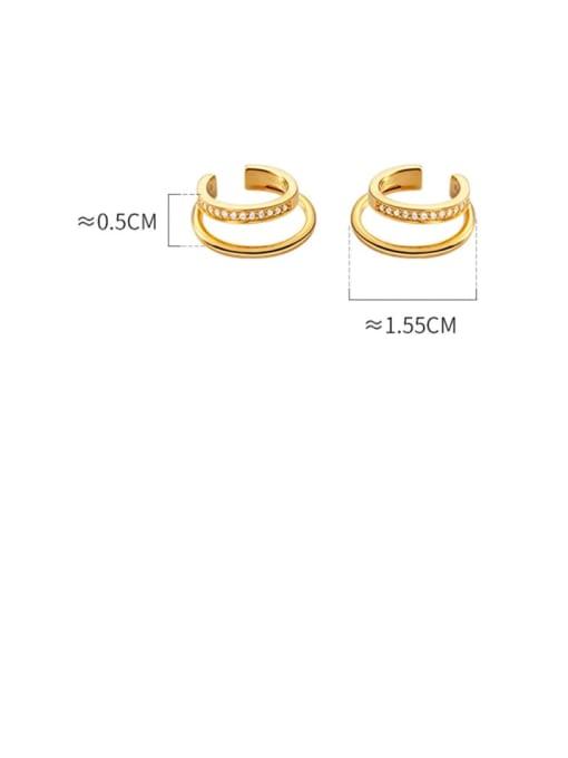 Rosh 925 Sterling Silver Cubic Zirconia Round Minimalist Huggie Earring 3