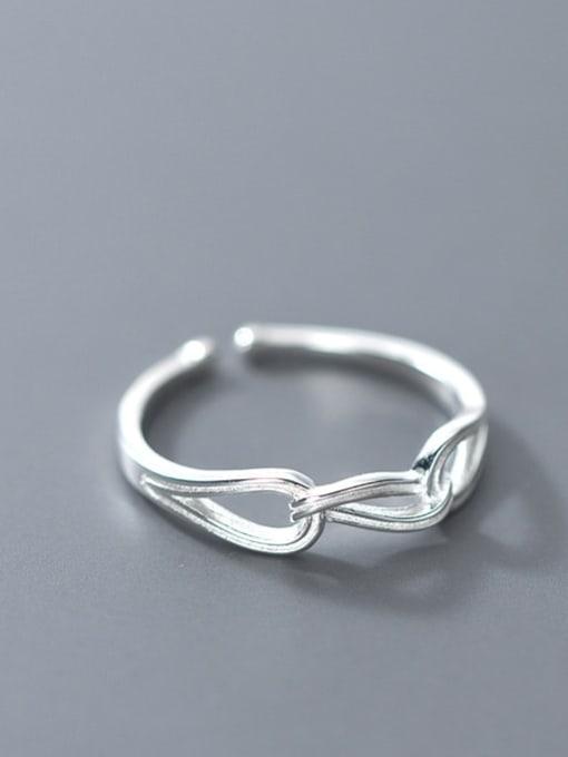 Rosh 925 Sterling Silver Hollow Geometric Minimalist Band Ring