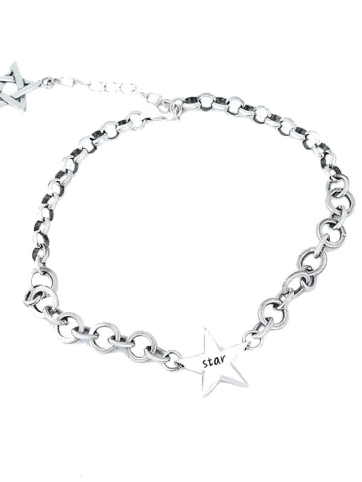 XBOX 925 Sterling Silver Vintage Multi Strand Necklace 4