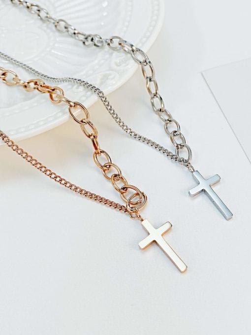 Open Sky Titanium Steel Cross Hip Hop Regligious Necklace 2