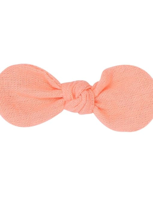 7 Anna pink hairpin Alloy Fabric Minimalist Bowknot  Multi Color Hair Barrette