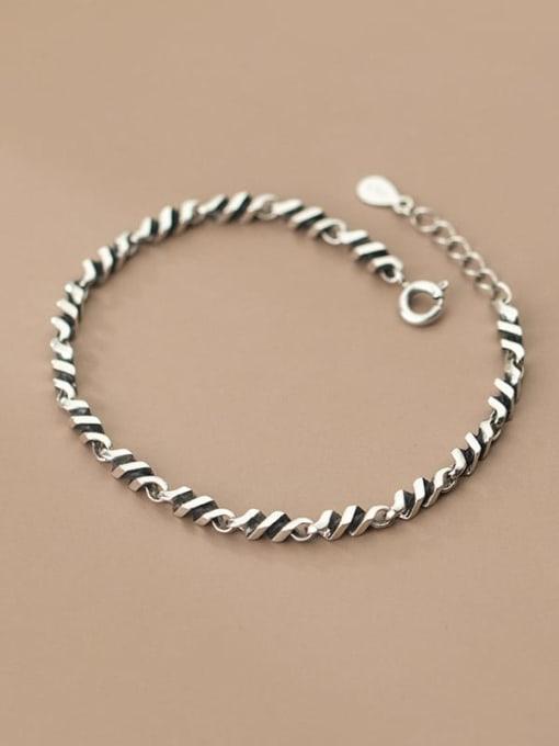 Rosh 925 Sterling Silver Irregular Vintage Link Bracelet 2