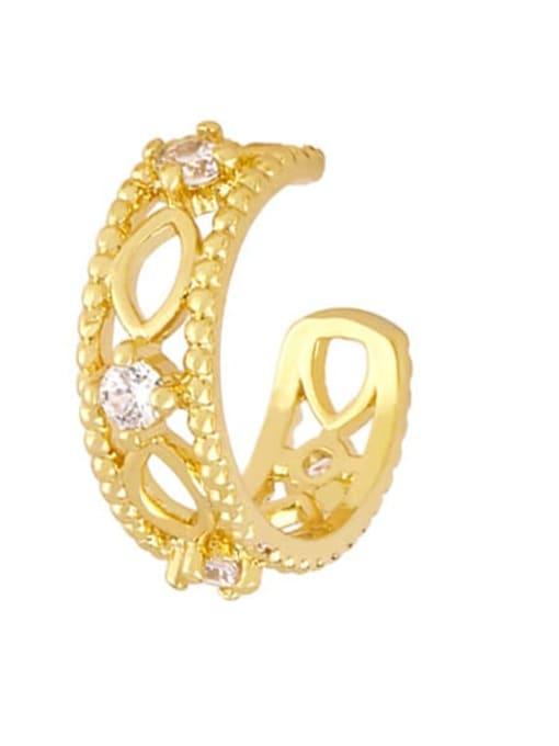B Brass Smiley Vintage Huggie Earring