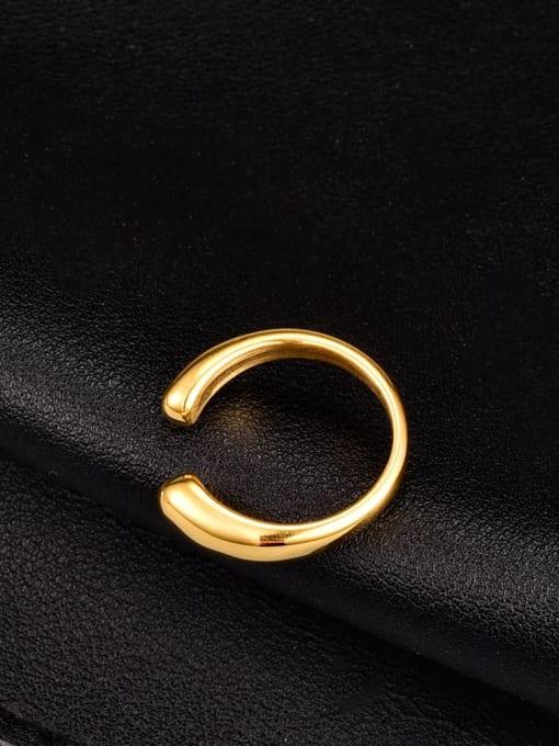 A TEEM Titanium Steel Water Drop Minimalist Band Ring 3