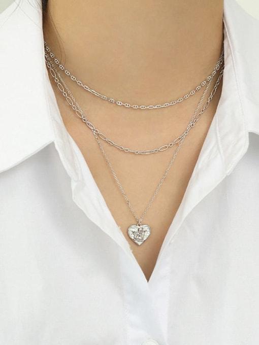 Dak Phoenix 925 Sterling Silver Hollow Geometric Minimalist Chain Necklace 2