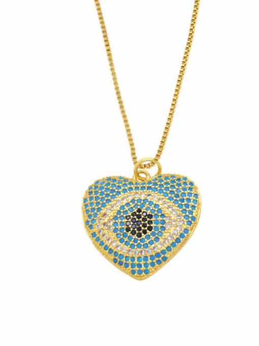CC Brass Cubic Zirconia Evil Eye Vintage Necklace 0