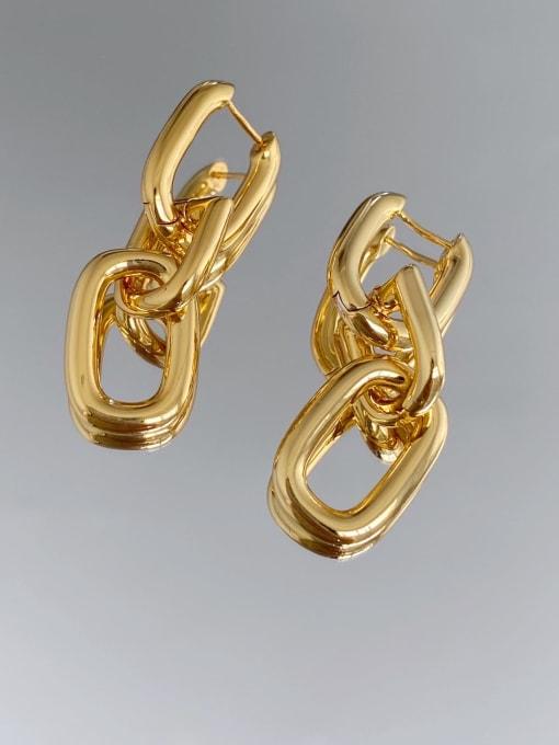 LI MUMU Brass Hollow Geometric Vintage Drop Earring 2