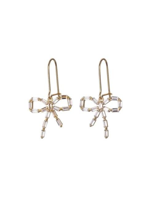 Rosh 925 Sterling Silver Cubic Zirconia Butterfly Vintage Hook Earring 2