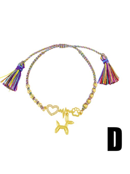 D Brass Enamel Smiley Vintage Bracelet