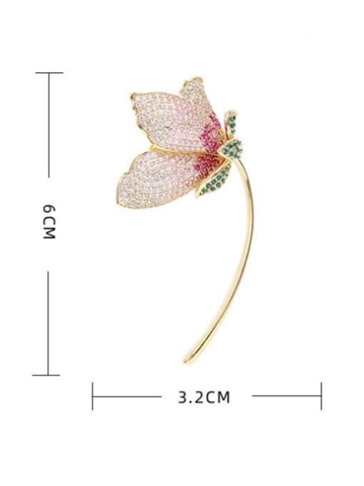 Luxu Brass Cubic Zirconia Flower Trend Brooch 1
