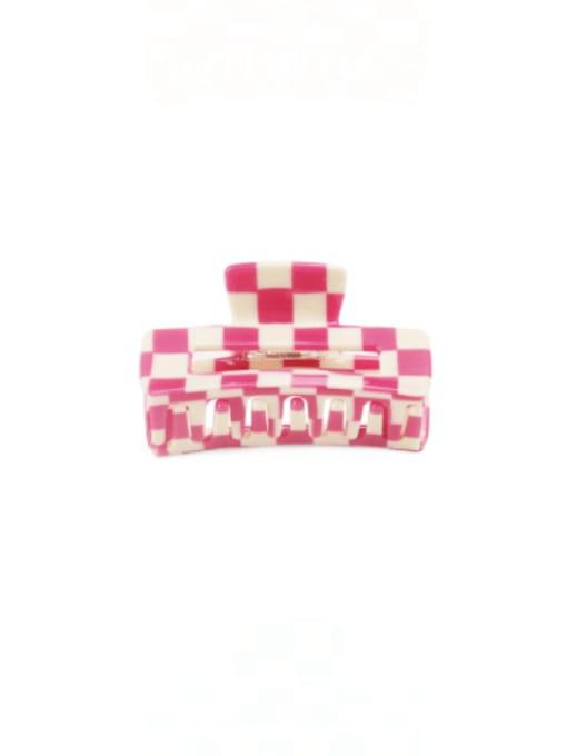 Lattice pink Cellulose Acetate Minimalist Geometric Zinc Alloy Jaw Hair Claw