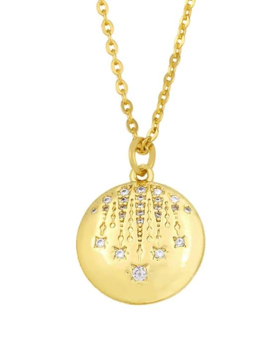 CC Brass Cubic Zirconia Geometric Minimalist Necklace 2