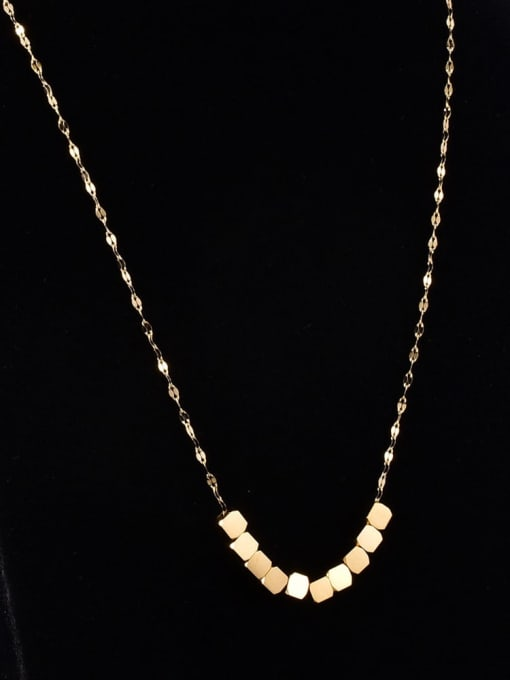 A TEEM Titanium Steel Square Minimalist Necklace 3