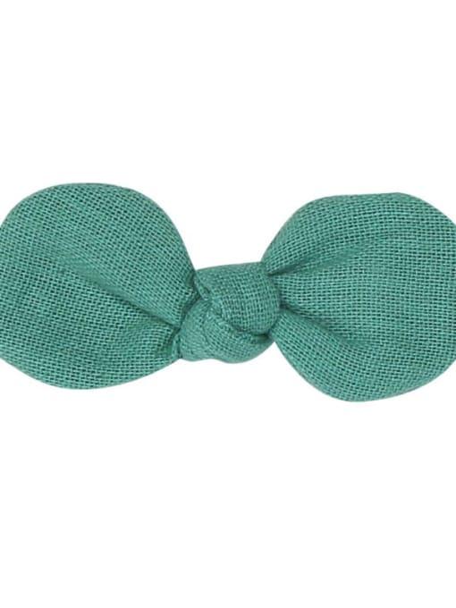 10 dark green hairpin Alloy Fabric Minimalist Bowknot  Multi Color Hair Barrette