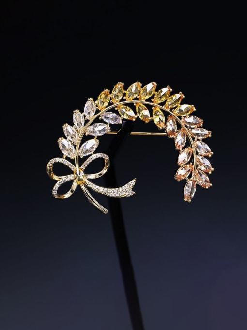 Luxu Brass Cubic Zirconia Butterfly Statement Brooch 2