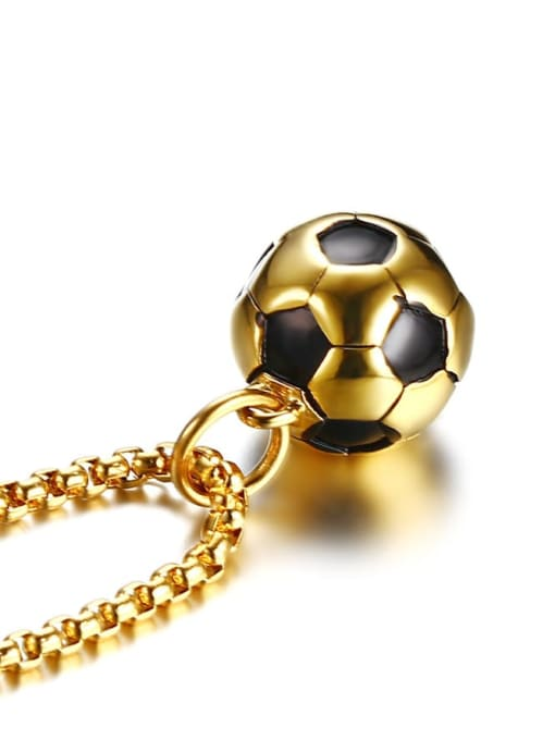CONG Stainless steel Enamel football Minimalist Necklace 4
