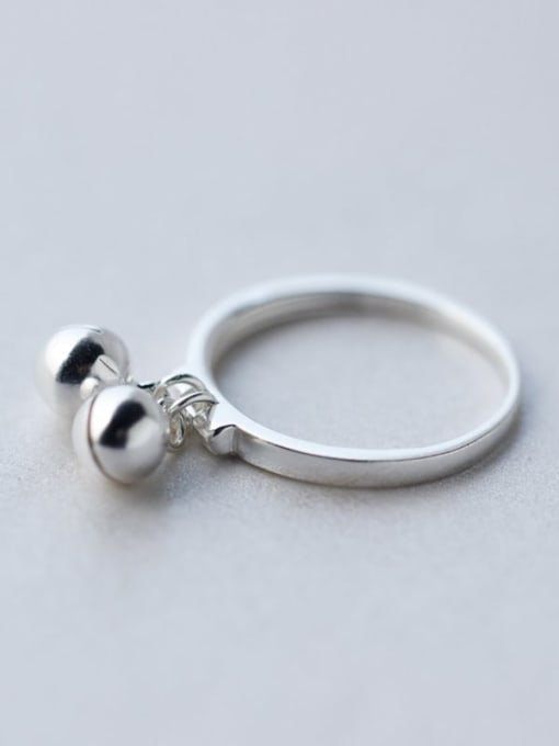 Rosh 925 Sterling Silver Bead Round Minimalist Band Ring 0