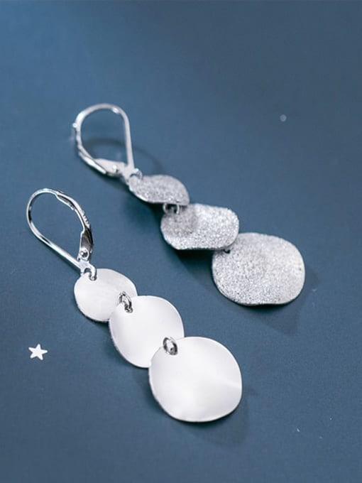 Rosh 925 Sterling Silver Geometric Minimalist Drop Earring 3