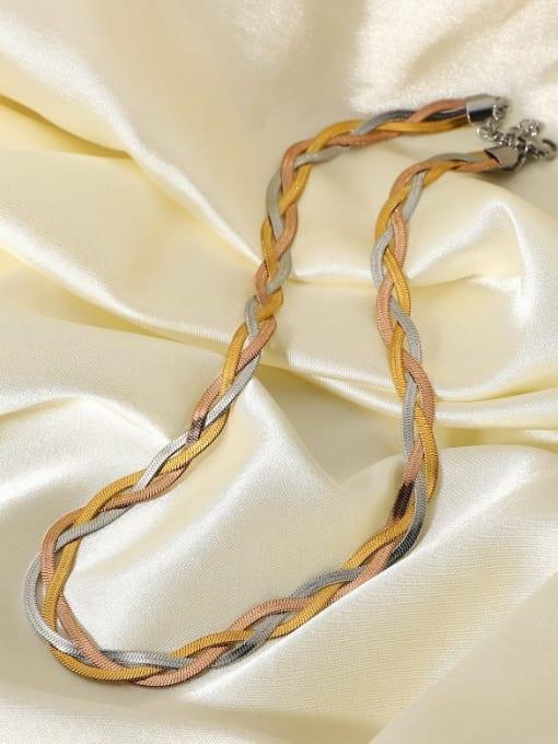 A TEEM Titanium Steel Irregular Vintage Necklace 0