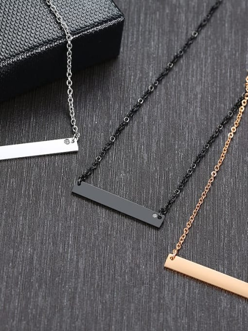 CONG Stainless steel Geometric Minimalist Necklace 2