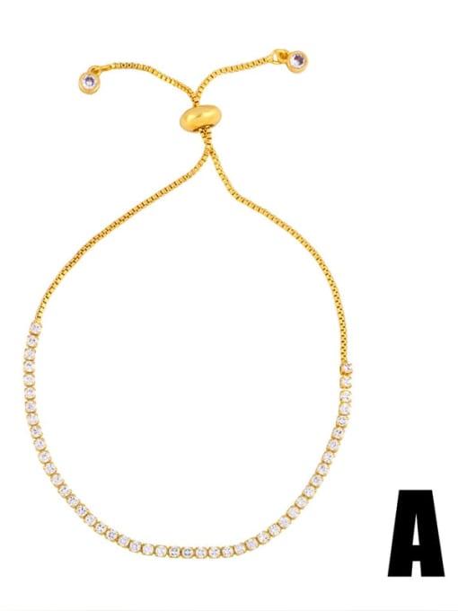 Brb93a Brass Cubic Zirconia Turtle Cute Link Bracelet