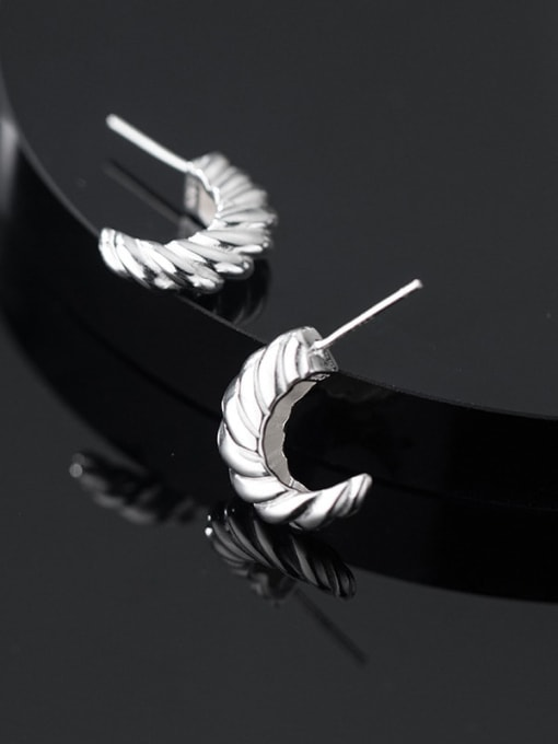 Rosh 925 Sterling Silver Irregular Vintage Stud Earring 2