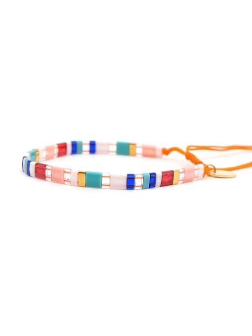Roxi Stainless steel Multi Color TIla Bead  Geometric Bohemia Adjustable Bracelet 2