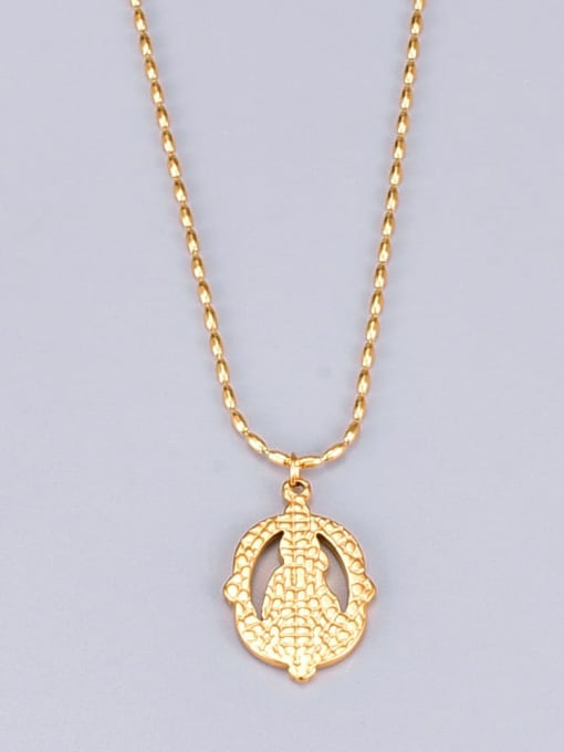 A TEEM Titanium Irregular Ethnic bead chain Necklace 3
