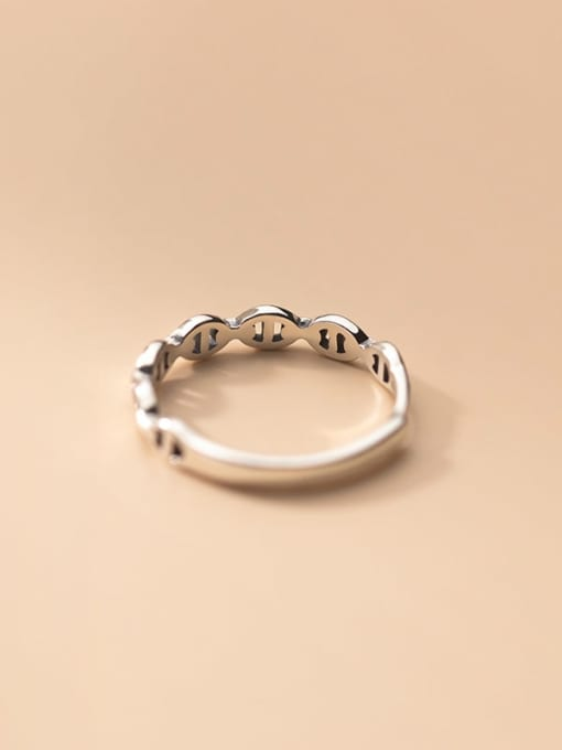 Rosh 925 Sterling Silver Rhinestone Geometric Vintage Band Ring 1