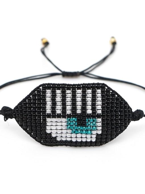 Roxi Multi Color Miyuki DB Bead Letter Bohemia Adjustable Bracelet 3