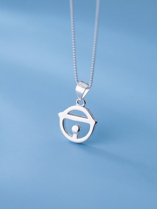 Rosh 925 Sterling Silver Geometric Minimalist Necklace