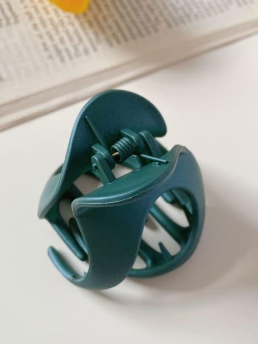 Green 6cm Alloy Resin Minimalist Irregular Jaw Hair Claw