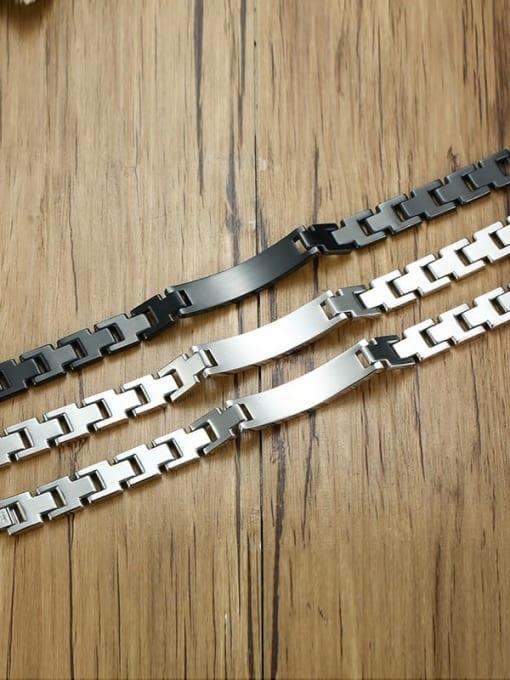 CONG Stainless steel Geometric Hip Hop Bracelet 4