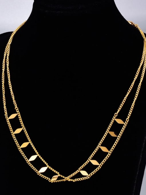 A TEEM Titanium Steel Irregular Vintage Multi Strand Necklace 1