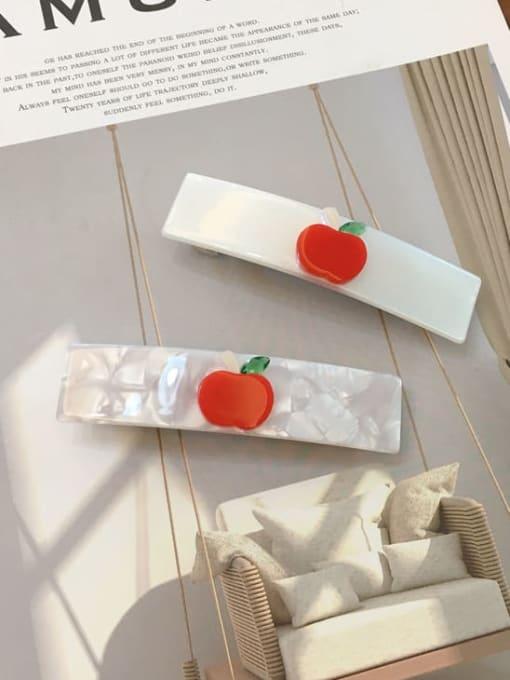 Chimera Alloy Cellulose Acetate Minimalist Cartoon apple pattern Spring clip Girl top clip 0