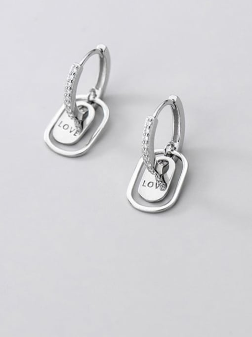 Rosh 925 Sterling Silver Cubic Zirconia Geometric Vintage Drop Earring 1