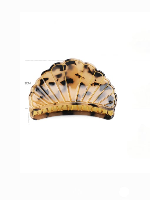Shallow hawksbill large Cellulose Acetate Minimalist Geometric Zinc Alloy Jaw Hair Claw